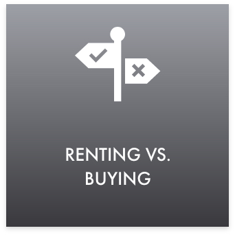 renting vs buying button